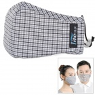 Zero Zone L067-CH Electrostatic Activated Carbon Insertable Breathing Mask w/ Replacment Filters