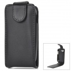 Protective Flip-Open PU Leather Case for Samsung Galaxy Pocket Neo S5310 - Black