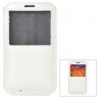 Protective PU Leather Pouch w/ Display Window for Samsung Galaxy Note 3 - White