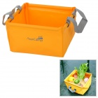 AceCamp 1700 Laminated PVC Folding Basin - Orange + Grey (5 L)