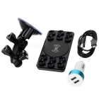 WS01 Universal Car Suction Cup Qi Standard Wireless Charging Transmitter for Samsung / Nokia - Black