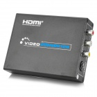 HDMI to RCA / S-Video HD AV Converter - Black (US Plug)