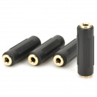 3.5mm Female to 3.5mm Female Audio Adapters - Black (4 PCS)