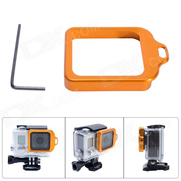 Fat Cat High Precision CNC Aluminum Alloy Lens Strap Ring for GoPro Hero 3+ - Orange hr113 gn high precision cnc aluminum alloy lens strap ring for gopro hero 3 green