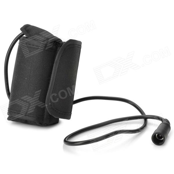 Water Resistant 2 x 18650 1800mAh Battery Pack for Flashlight - Black nylon 9000mah 10 x 18650 battery pack