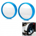 Universal Backup Aluminum Alloy + Glass Rearview Mirrors - Blue (2 PCS)