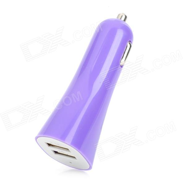 JAPAD UC17 Universal Dual USB 5V 2.1A Car Charger - Purple + White (12~24V)