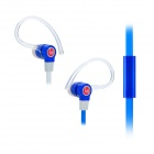 beevo 3.5mm In-ear Style Sports Earphone w/ Microphone for IPHONE / IPAD - Deep Blue + Red (134cm)