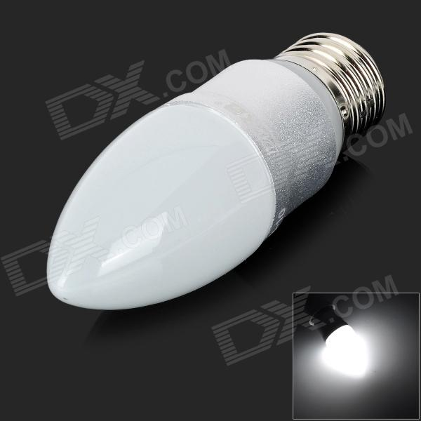 DP DP-QP3W03 E27 3W 6500K Constant Current White LED Light Bulb - White + Silver (AC 90~240V)