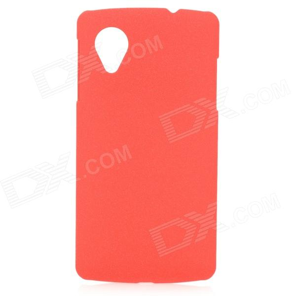 Ultrathin Protective Quicksand Style PVC Back Case for LG Nexus 5 - Red protective silicone back case for lg nexus 5 red
