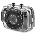 "D10 1.77"" LCD 720p 1.3MP 4X Digital Zoom DVR Camcorder w/ Waterproof Case - Black"