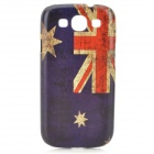Retro Flag of Australia Style Protective PC Back Case for Samsung Galaxy S3 i9300 - Blue + Red