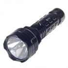 RL RL-1027 90lm 2-Mode 1-LED Neutral White Light lampe de poche rechargeable - Noir (Plug UE)