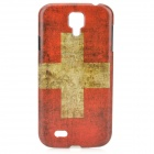 Retro Flag of Switzerland Style Protective PC Back Case for Samsung Galaxy S4 i9500 - Red