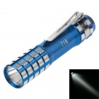 716 30lm 6000K White Light Flashlight - Blue + Silver (1 x AA)