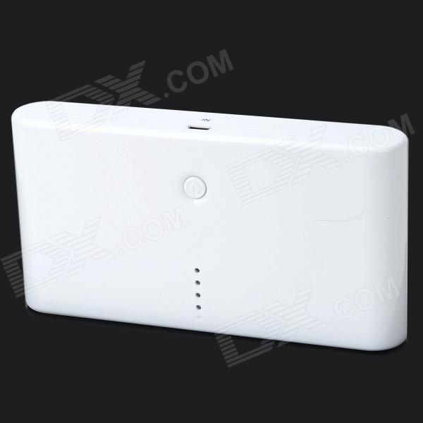 Universal 20000mAh Dual USB Power Bank w/ LED Indicator for IPHONE / Samsung - White - DXMobile Power<br>Suitable for IPADIPHONE and other mobile phones digital camera PSPMP3MP4DV etc. Features: High quality: A grade polymer batteries; Fashionable design; Dual USB connectors.<br>