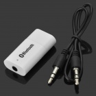 USB 2.0 Bluetooth V2.0 Music Receiver w/ 3.0mm Audio Cable - White