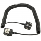 SC-28 TTL Off Camera Speedlight Flash Remote Shoe Cord Trigger for Nikon - Blackish Golden (150cm)