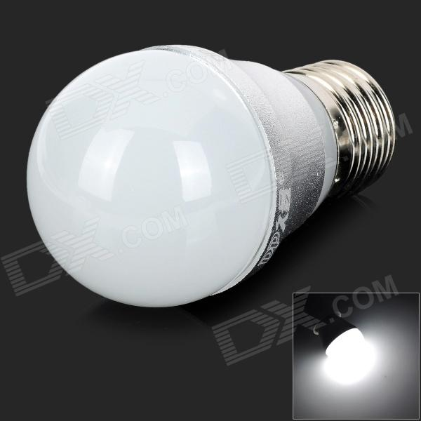 DP DP-QP3W01 E27 3W 6500K White LED Light Bulb - White + Silver (AC 90~240V)