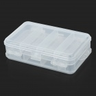 10-Compartment Dual Layer Plastic Medicine Box - Transparent White
