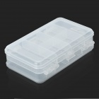 10-Compartiment Dual Layer Plastic Geneeskunde Box - Transparant Wit