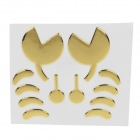 Creative Crab Pattern Car Decoration Sticker - Yellow