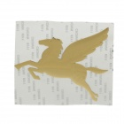 Creative Pegasus Pattern Car Decoration Sticker - Yellow