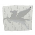 Creative Pegasus Pattern Car Decoration Sticker - Silver