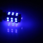 T10 / 447 / W5W 1.3W 120lm 25 x SMD 3528 LED Blue Car Side Light / Instrument / Reading lamp - (12V)