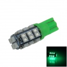 T10 / 192 / W5W 1.5W 130lm 28-SMD 3528 LED Green Car Side Light / Instrument / Reading lamp - (12V)