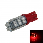 T10 / 192 / W5W 1.5W 130lm 28-SMD 3528 LED Red Car Side Light / Instrument / Reading lamp - (12V)