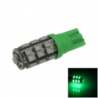 T10 / 447 / W5W 1.3W 120lm 25-SMD 3528 LED Green Car Side Light / Instrument / Reading lamp - (12V)
