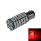 1156 / BA15S 6W 600lm 120 x SMD 3528 LED Red Car Steering Light / Tail / Backup Lamp - (12V)