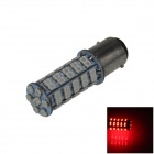 1157 / BAY15D 3.4W 300lm 68 x SMD 1210 LED Red Car Steering Light / Tail / Brake Light - (12V)