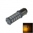 1157 / BAY15D 3.4W 300lm 68 x SMD 1210 LED Yellow Car Steering Light / Tail / Brake Light - (12V)