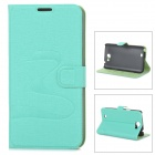 Oracle Style Protective PU Leather + Plastic Case for Samsung N7100 - Light Green