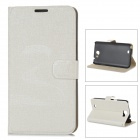 Oracle Style Protective PU Leather + Plastic Case for Samsung N7100 - Beige