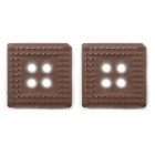 BONATECH Chip-Basis / 68-Pin IC-Sockel - Braun (2 PCS)