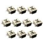 Jtron Mini 5-Pin SMD USB Socket - Silver (10 PCS)
