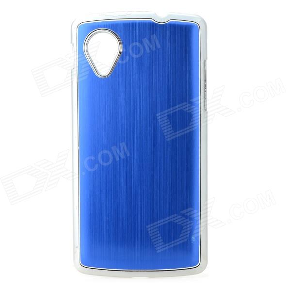 Protective Aluminium Alloy Back Case for LG Nexus 5 - Blue стоимость