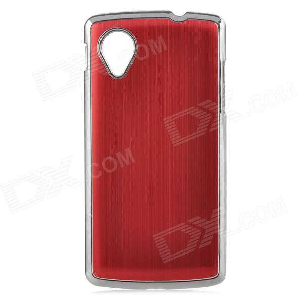 Protective Aluminum Alloy Back Case for LG Nexus 5 - Red