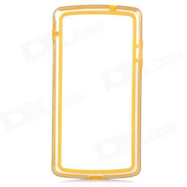A-336 Protective TPU + Plastic Bumper Case for LG Nexus 5 D820 - Yellow