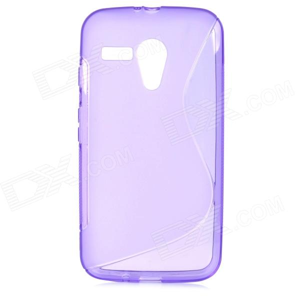 """S"" Style Protective TPU Back Case for Motorola MOTO G - Purple"