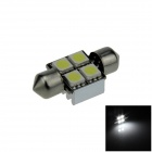 Canbus Festoon 31mm 1W 60lm 4 x SMD 5050 LED White Car Roof light / Reading Lamp w/ Heat Sink (12V)