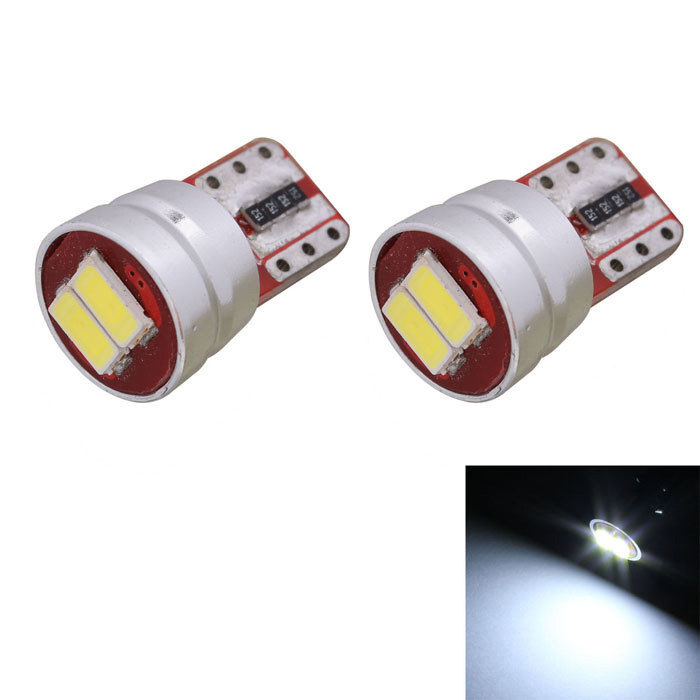 T10 1W 70lm 2 x SMD 5630 LED Error Free Canbus White Light Car Clearance Lamp - (DC 12V / 2 PCS)