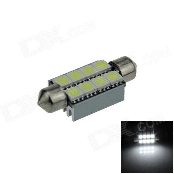 Canbus Festoon 39mm 2W 120lm 8 x SMD 5050 LED White Car Roof light / Reading Lamp w/ Heat Sink (12V) lx 3w 250lm 6500k white light 5050 smd led car reading lamp w lens electrodeless input 12 13 6v