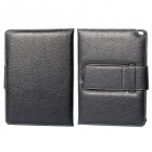 Detachable 64-Key Bluetooth V3.0 Keyboard PU Leather Case for Samsung Galaxy Note P600 - Black