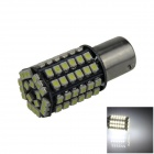 BA15S / 1156 4W 300lm 80 x SMD 1210 LED White Car Reversing Light / Steering / Tail Lamp - (12V)