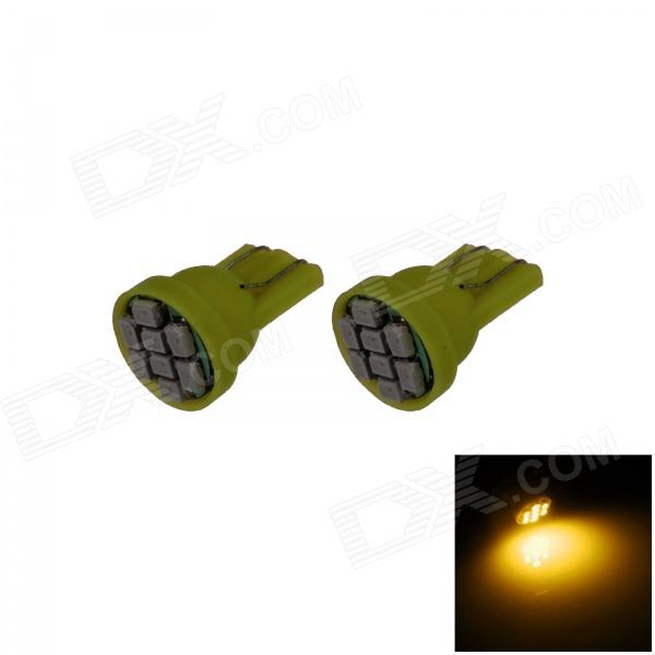T10 / 194 / W5W 0.5W 100lm 8 x SMD 3020 LED Yellow Car Instrument Lamp / Side Light - (12V / 2 PCS)