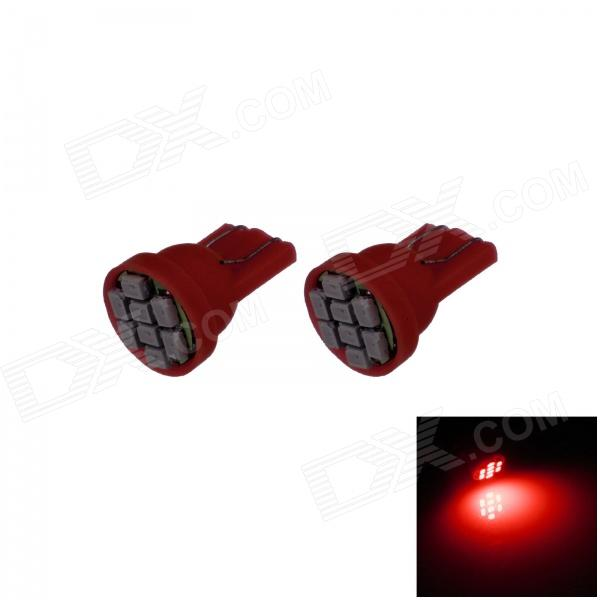 T10 / 194 / W5W 0.5W 100lm 8 x SMD 3020 LED Red Car Instrument Lamp / Side Light -  (12V / 2 PCS)